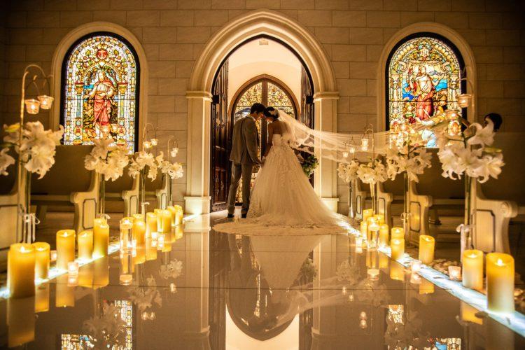 花嫁が美しく輝く銀座唯一のステンドグラス挙式体験~無料試食付き