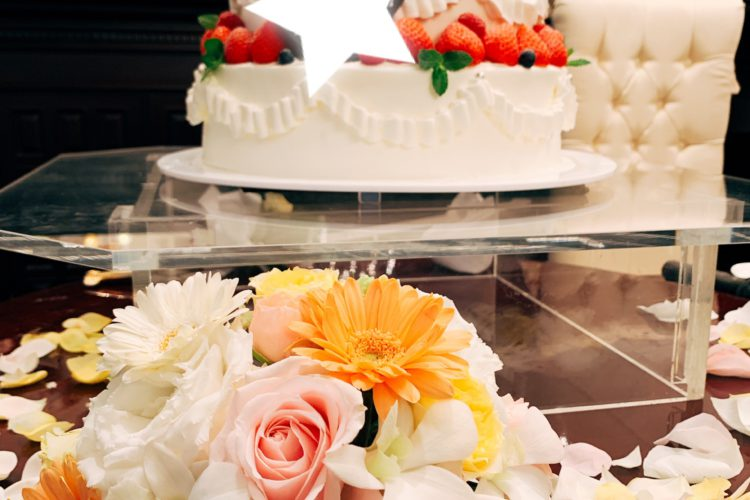 ケーキ装花の役割★